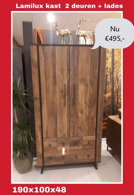 Uitverkoop Showroom Lamulux 2-deurs kast